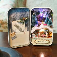Dollhouse Snow Dream Vol 3 Miniature Theater DIY Kits Box with LED Light