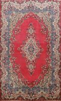 Vintage Traditional Hand-Knotted Oriental Area Rug Medallion Wool Carpet 9x12
