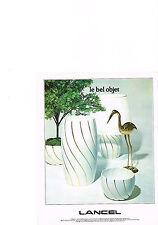 PUBLICITE  1978   LANCEL     objets décoration de la maison