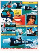 PUBLICITE ADVERTISING  1981  ULTRA BRITE  dentifrice
