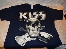 Kiss Monster Skull Tour 2013 Stockholm Blue Official T Shirt Large