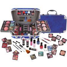 Schminkkoffer Traveller blue 84 tlg. Set gefüllt Schminke Make up Kosmetik Rouge