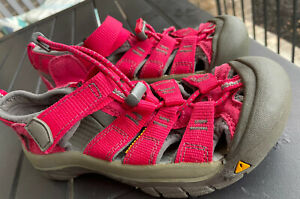 Kids Brown Keen Sport Sandals-Size 1 Youth Big Kid Pink MINT