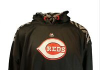 Cincinnati Reds MLB Majestic Pullover Hoodie, Black, Mens, Big & Tall, Nwt