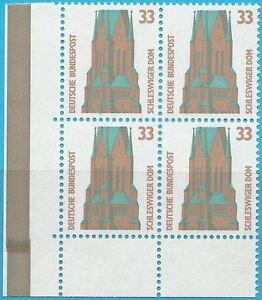Bund aus 1989 ** postfrisch Viererblock MiNr.1399 - Sehenswürdigkeiten!