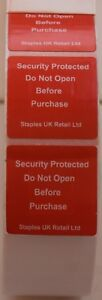 New 8.2MHz RF Self Adhesive Security Alarm Tags 1000 1500 2000 5000 10000 20000
