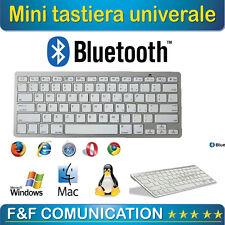 Tastiera Bluetooth Keyboard Slim Wireless per Apple iMac Macbook iPhone iPad uni