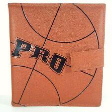 Vintage Pen-Tab Pro 3 Ring Binder Basketball Folder School Organizer Notebook