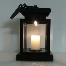 Outdoor Hanging Candle LED Light Solar Powered Garden Wall Carriage Lantern Lamp