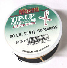 Mason Tip-Up Ice Fishing Line, Braided Nylon, Black, 30# test, 50 yd #50TB-30