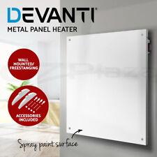 Devanti 450W Metal Wall Mount Panel Heater Infrared Slimline Portable Caravan