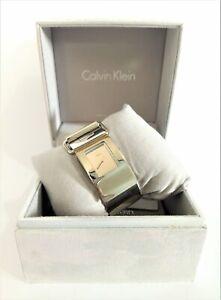 Calvin Klein K3K2S118 Pump Silver Dial Stainless Steel Bracelet Ladies Watch