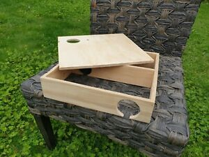 """Wooden LARGE Maze Burrow Hide play exercise house  12""""x12"""" with lid"""