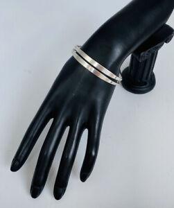 """Vintage Rare Ed Levin Sterling Silver Modernist Cuff Bracelet 6.5"""""""