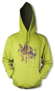 HORSES STALLIONS MARES TROT GALLOP HOODIE ADULT  S-XXL