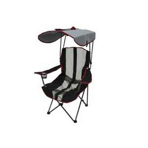Kelsyus Premium Foldable Lawn Camping Chair w/Cup Holder and Canopy (Open Box)