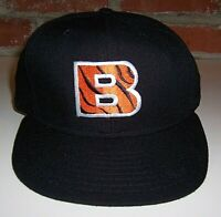 VTG 1990s Cincinnati Bengals Black Hat NFL Size 7 1/4 Cap 100% Wool Very Nice!