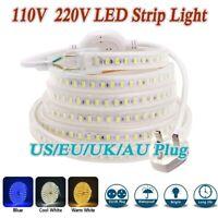 110V 220V RGB Led Strip Light IP67 Waterproof SMD Rope Garden Kitchen Backlight