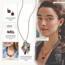 Chloe and Isabel Bouquet Rouge Long Pendant Necklace - N269 - New