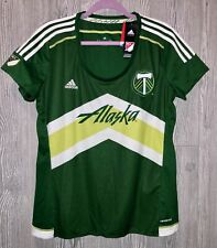 ADIDAS MLS Portland Timbers Replica Home Green S/S Soccer Jersey NEW Womens XL