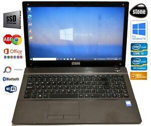 """CLEVO Stone NT310-H HD 15.6"""" 240GB SSD Intel i5-4210M 2.60GHz 4GB RAM Win10 Pro"""