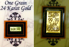 ACB 5Grain and 1GRAIN 24k 99.99 fine Gold Bars with Certificate of Authenticity