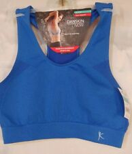 cf12dafd92 Danskin Now Womens Sz Small Low Impact Seamless Racerback Sports Bra Blue