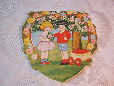 Whitney Embossed Heart Shaped Valentine Vintage Card T*