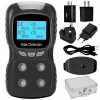 4 in 1 Toxic CO O2 H2S Safety Siren Gas Detector Alarm Monitor Tester Hot