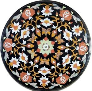 21 Inches Marble Center Table Marquetry Art Coffee Table Top form Cottage Art
