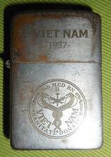 25th MEDICAL BN - CU CHI - Vietnam War - RARE 1937, ORIGINAL ZIPPO LIGHTER, 8408