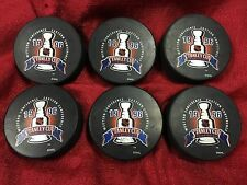 Lot Of 6- 1996 Stanley Cup Championship NHL Hockey Puck Panthers Avalanche
