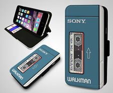 Sony Walkman Awesome Mix Retro Gadget Electronics Leather Flip Phone Case Cover