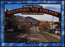 Downtown Golden, Colorado #72 Coors Beer Trade Card (C389)