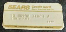 Sears Roebuck and Co. Credit Card Princess Size