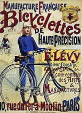 Vintage French Haute Precision Bicycle Advertisment Poster Art Print A3 A4