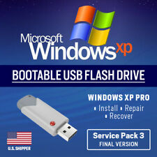 Windows XP USB Bootable Pro Professional SP3 Reinstall Restore Repair 32 64 bit