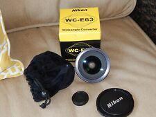 Nikon Wide Angle Converter Lens WC-E63 Near Mint Condition