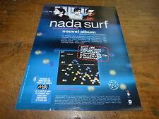 NADA SURF - Publicité de magazine / Advert THE PROXIMITY EFFECT  !!!!!