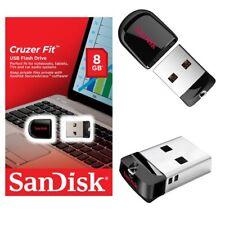Sandisk 8GB 8 G GB CZ33 Cruzer Fit USB 2.0 Flash Pen Drive Stick Speicherstick