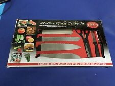 CHEF DELUXE, MIRICLE EDGE , 21 PIECE KITCHEN CUTLERY SET. STAINLESS STEEL