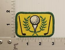 1980's GOLF (GREEN & YELLOW) VINTAGE EMBROIDERED PATCH