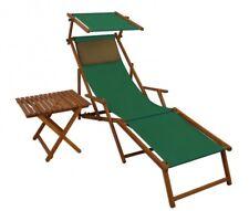 Chaise Longue Bois Transat pour Jardin M Partie de Pied Oreiller + Table 10-304