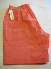 NWT  Woman Alfred Dunner Coral Elastic Waist Pull On Shorts 18W