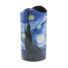 New Contemporary Ceramic Sculpted Vase Starry Night Van Gogh 10.25""