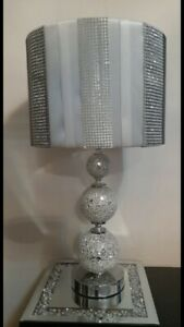 Lamp Sparkly Diamond Crush spherical with shade x 2