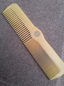 Vintage Art Deco Bakelite Ivory Enameled Comb Excellent