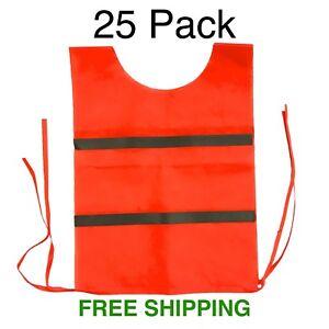 *25 PACK* 3M Scotchlite Reflective Event Staff/Emergency Orange Safety Vest