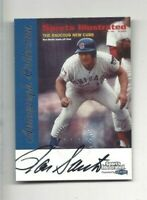 1999 Fleer Sports Illustrated autographed baseball card Ron Santo, Chicago Cubs