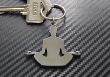 YOGA Fitness Tantra Meditation Buddha Hindu Spiritual Wellness Keyring Keychain